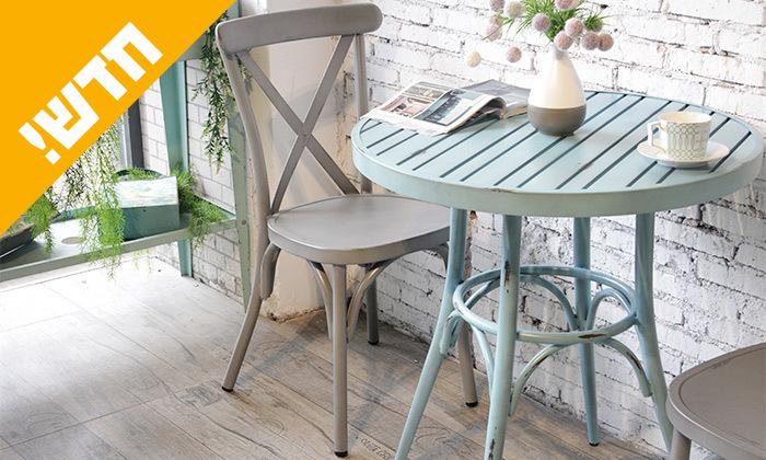 3 שולחן עגול בסגנון וינטג' לגינה SUNRISE