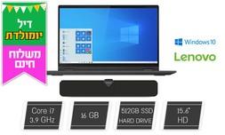 """מחשב נייד Lenovo עם מסך """"15.6"""