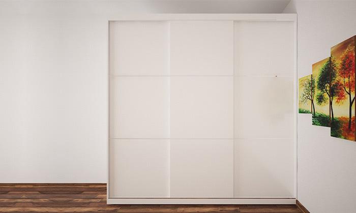 5 ארון הזזה 3 דלתות עם מראה House Design - צבעים לבחירה