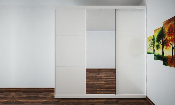 2 ארון הזזה 3 דלתות עם מראה House Design - צבעים לבחירה