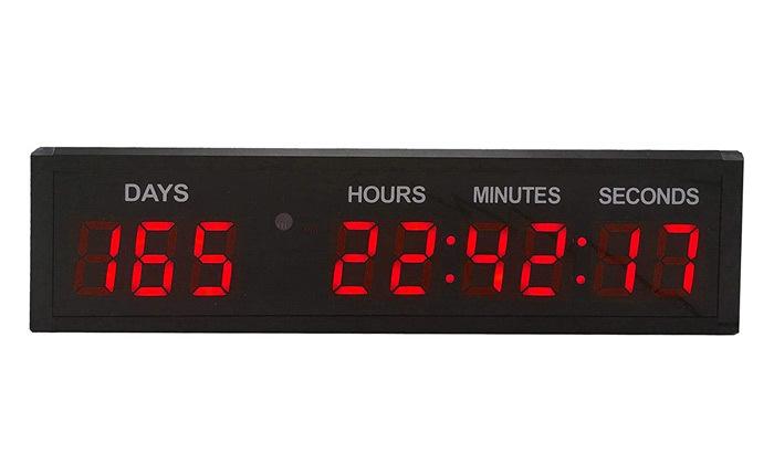 2 שעון לד דיגיטלי חשמלי BRADOX