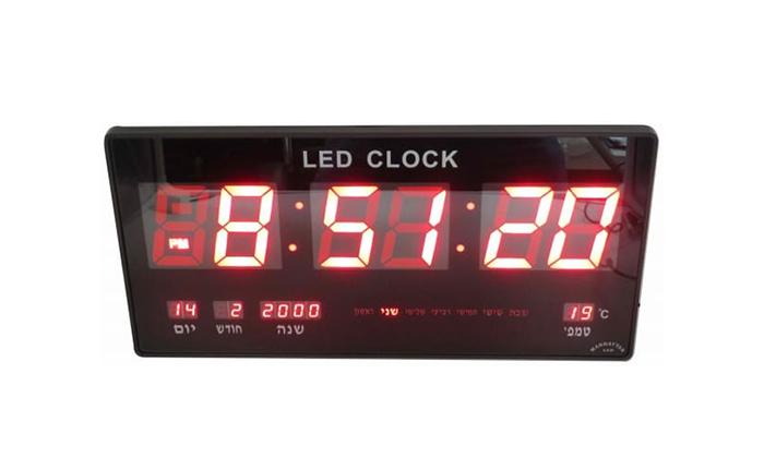 2 שעון LED חשמלי BRADOX