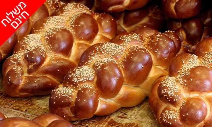 2 מארז לחמים ומאפים לשבת מעולם הלחם, משלוח חינם בין נתניה לאשדוד
