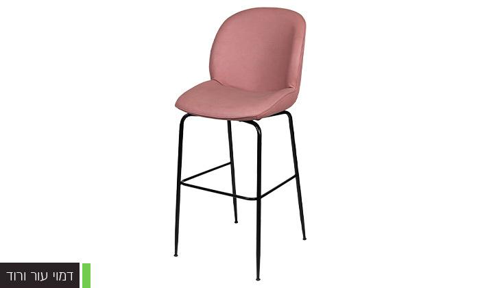 4 כיסא בר מרופד SUN DESIGN HOME