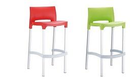 זוג כסאות בר פלסטיק