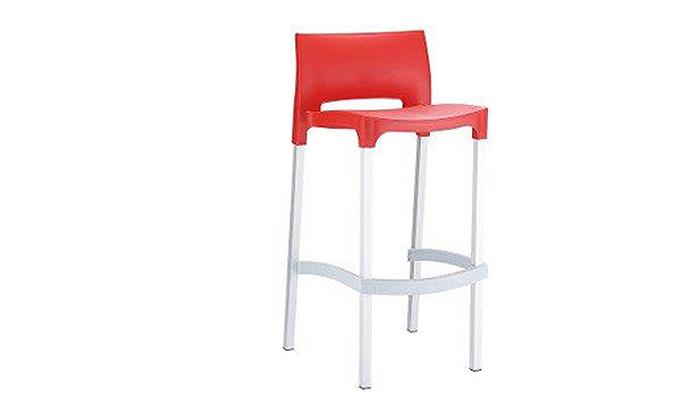 4 זוג כסאות בר מפלסטיקSUN DESIGN HOME דגם 035B