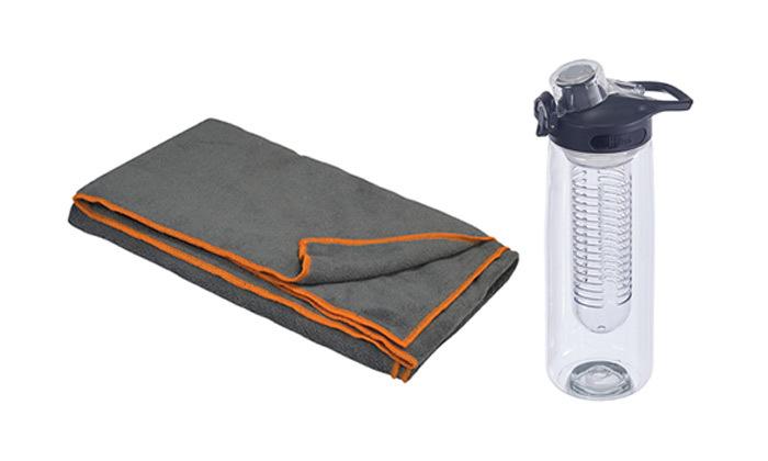 בקבוק ספורט ומגבת הפלא - משלוח חינם