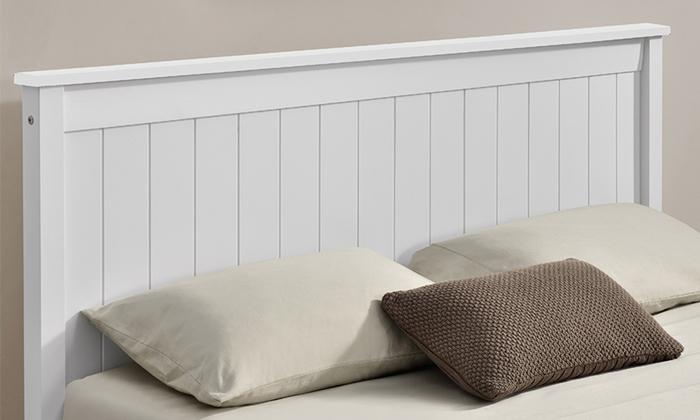 3 מיטה זוגית מעץ מלאHOME DECOR דגם דביר עם אופציה להוספת מזרן