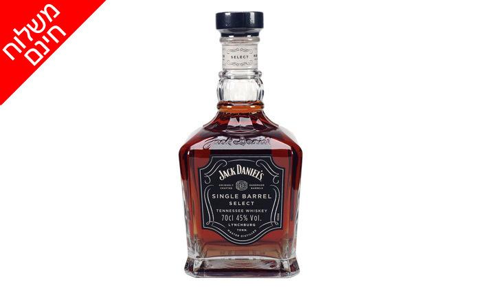 3 2 בקבוקי וויסקי ג'ק דניאלס סינגל בארל במשלוח עד הבית לכל הארץ
