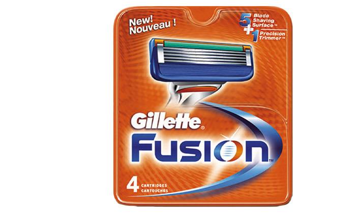 3 מארז 16 סכיני גילוח ג'ילט פיוז'ן Gillette Fusion