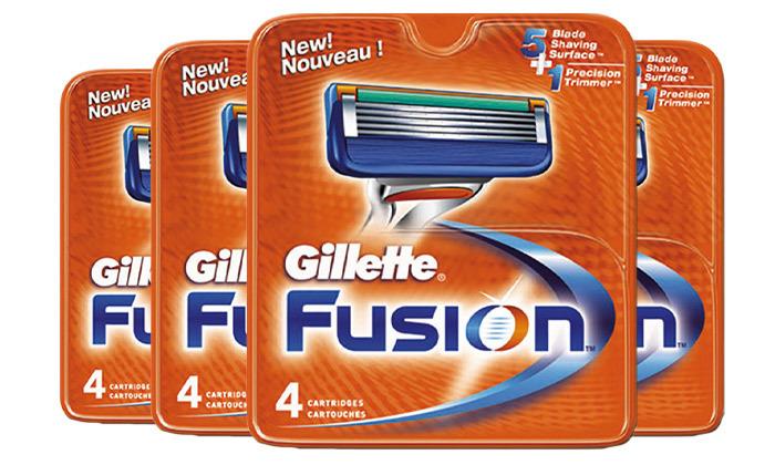 4 מארז 16 סכיני גילוח ג'ילט פיוז'ן Gillette Fusion
