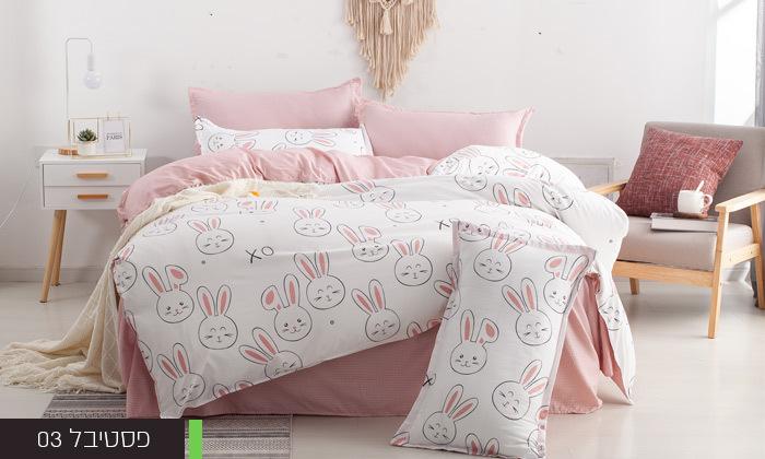 6 סט מצעים למיטת יחיד או למיטה וחצי במגוון דגמים
