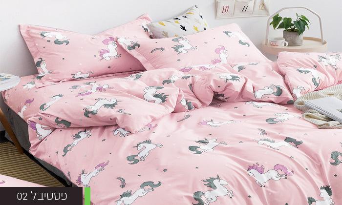 7 סט מצעים למיטת יחיד או למיטה וחצי במגוון דגמים