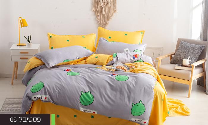 8 סט מצעים למיטת יחיד או למיטה וחצי במגוון דגמים