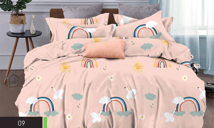3 סט מצעים למיטת יחיד או למיטה וחצי במגוון דגמים