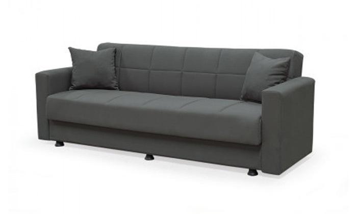 4 ספה תלת מושבית נפתחת למיטה BRADEX עם ארגז מצעים גדול