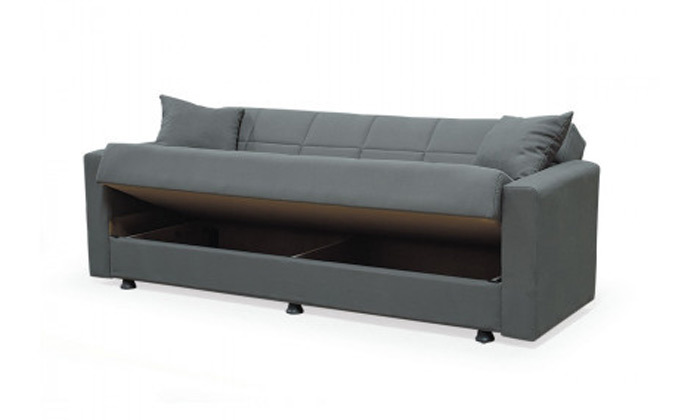 5 ספה תלת מושבית נפתחת למיטה BRADEX עם ארגז מצעים גדול