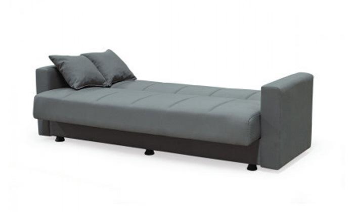 6 ספה תלת מושבית נפתחת למיטה BRADEX עם ארגז מצעים גדול