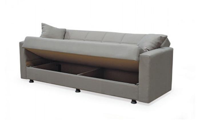 7 ספה תלת מושבית נפתחת למיטה BRADEX עם ארגז מצעים גדול