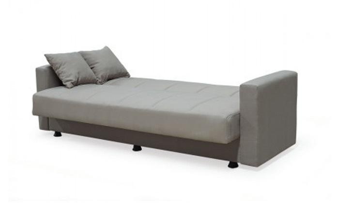 8 ספה תלת מושבית נפתחת למיטה BRADEX עם ארגז מצעים גדול