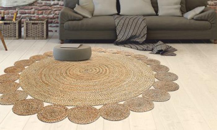 5 שטיח חבל עגול