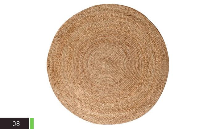 4 שטיח חבל עגול