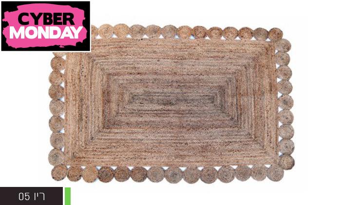 4 שטיח חבל כולל שטיחון