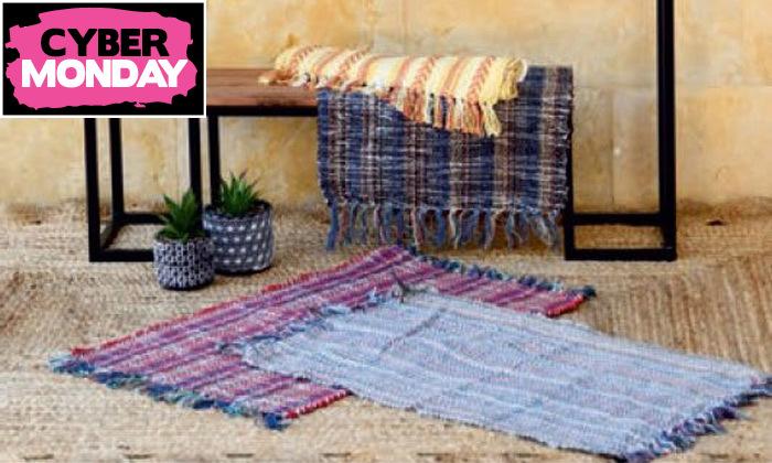 6 שטיח חבל כולל שטיחון