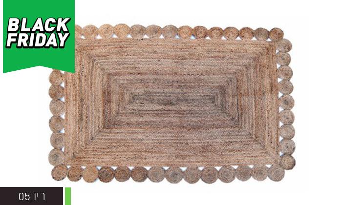 3 שטיח חבל מלבני כולל שטיחון