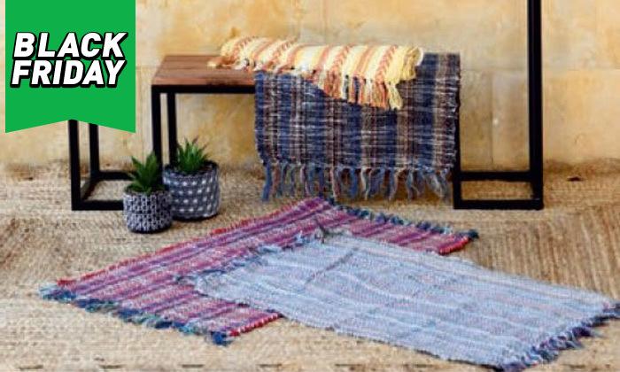 5 שטיח חבל מלבני כולל שטיחון
