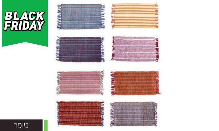 4 שטיח חבל מלבני כולל שטיחון