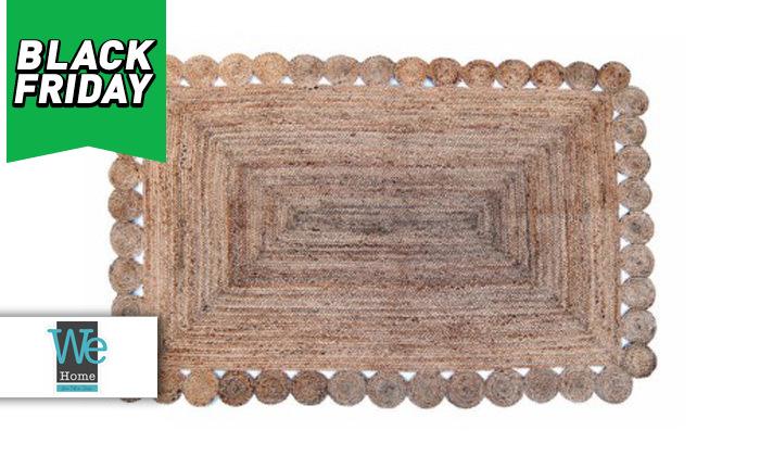 2 שטיח חבל מלבני כולל שטיחון