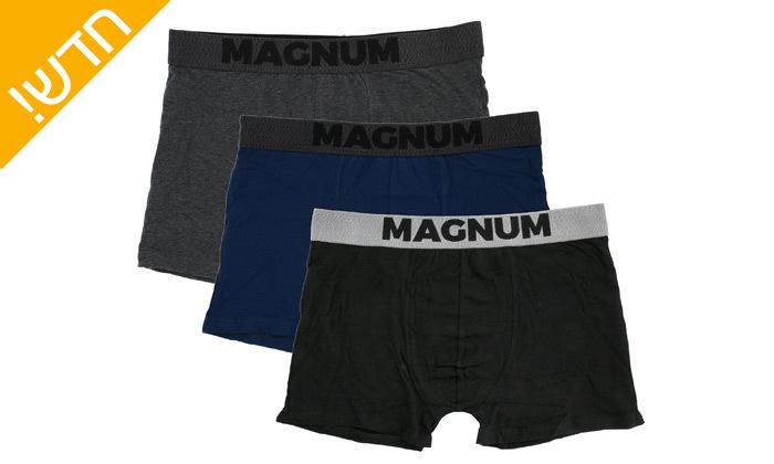 4 מארז 9 תחתוני בוקסר לגברים MAGNUM במבחר מידות