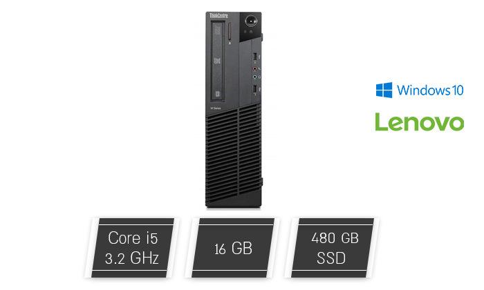 2 מחשב נייח LENOVO  עם מעבד i5 ומערכת הפעלה WINDOWS 10 HOME
