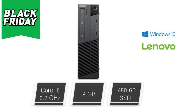 2 מחשב נייח מחודש לנובו Lenovo עם זיכרון 16GB ומעבד i5