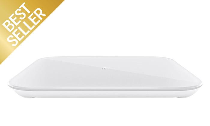 3 משקל חכם Xiaomi, דגם Mi Smart Scale 2 עם אפליקציה ייעודית
