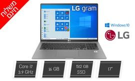 """מחשב נייד LG עם מסך """"17"""