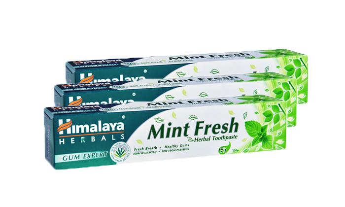2 3 יחידות משחת שיניים למניעת ריח מהפה הימלאיה Himalaya