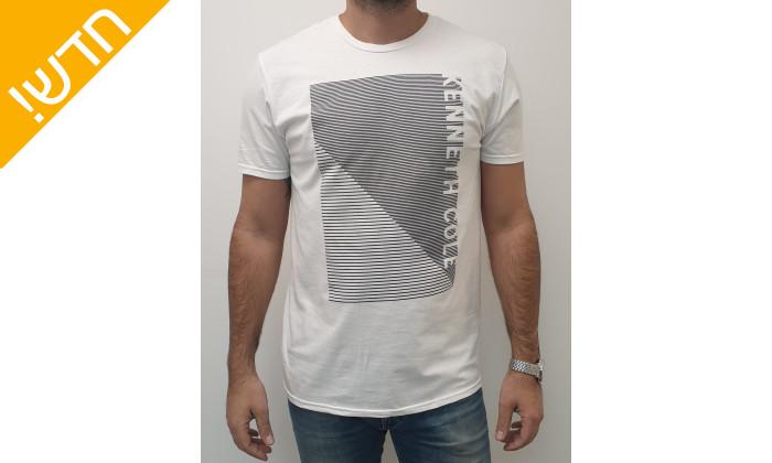 2 חולצת טי שירטקצרה קנת קול לגברים Kenneth Cole