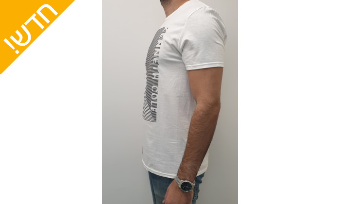 5 חולצת טי שירטקצרה קנת קול לגברים Kenneth Cole