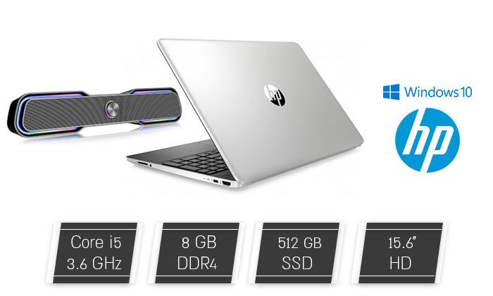"""2 מחשב נייד מעודפים HP עם מסך """"15.6 דגם DY1018 עם זיכרון 8GB ומעבד i5 - משלוח חינם"""