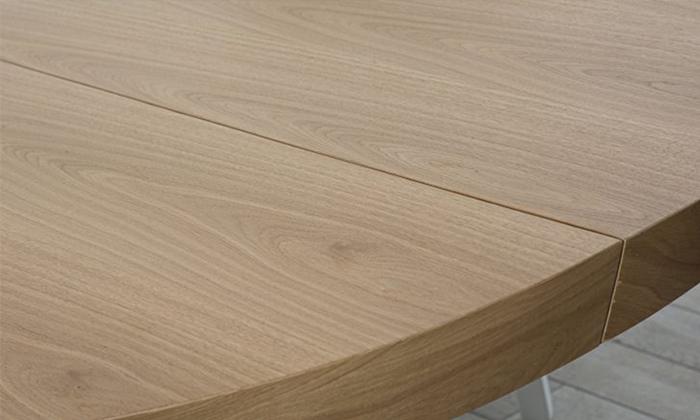 3 שולחן אוכל עגול נפתח LEONARDO, דגם גורמה מידות לבחירה