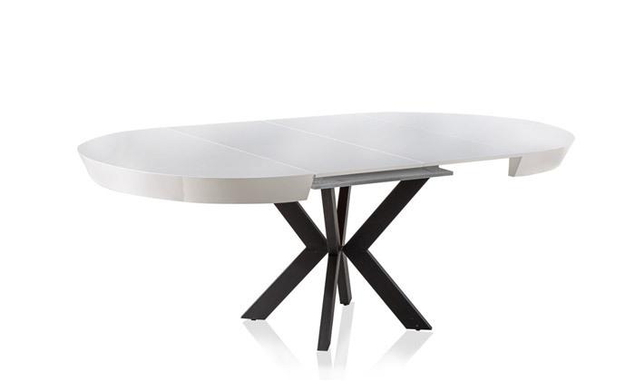 7 שולחן אוכל עגול נפתח LEONARDO, דגם גורמה מידות לבחירה