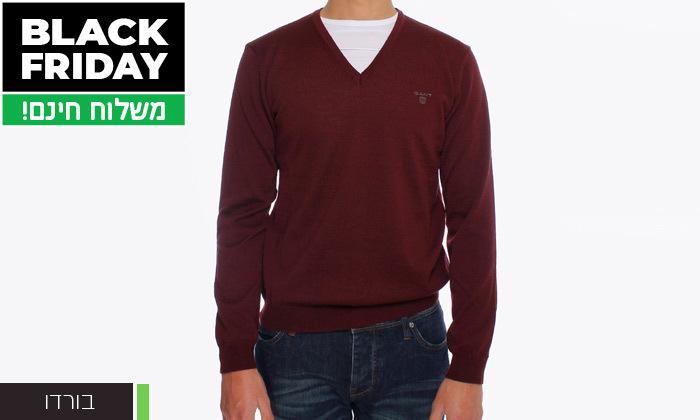 9 סוודר או קרדיגן מכופתר לגברים גאנט GANT - משלוח חינם