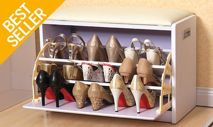 16 שידת התארגנות עם מקום לנעליים