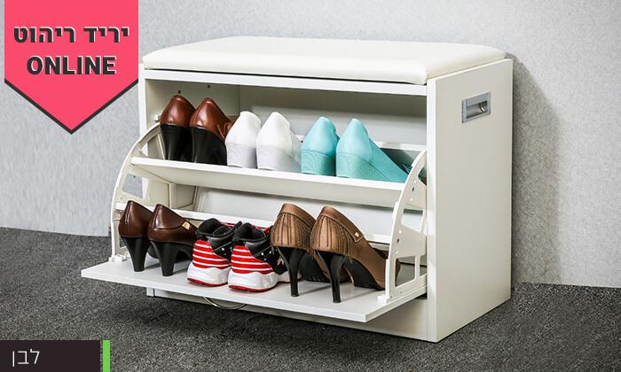 7 שידת התארגנות עם מקום לנעליים