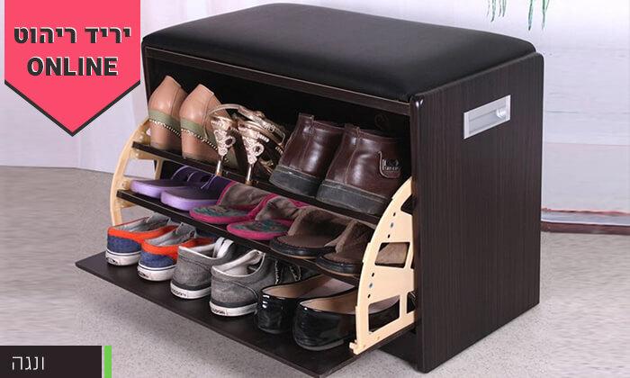 12 שידת התארגנות עם מקום לנעליים
