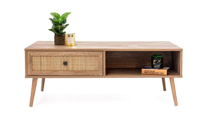 4 שולחן קפה מעוצב עם מגירה לאחסון
