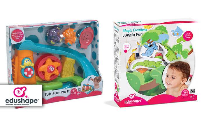 משחקי אמבטיה לילדים Edushape: לונה פארק מים וחיות מספוג