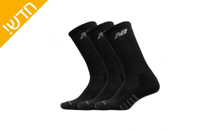 2 מארז6 זוגות גרביים ארוכות עד אמצע השוק ניו באלאנס לגברים new balance